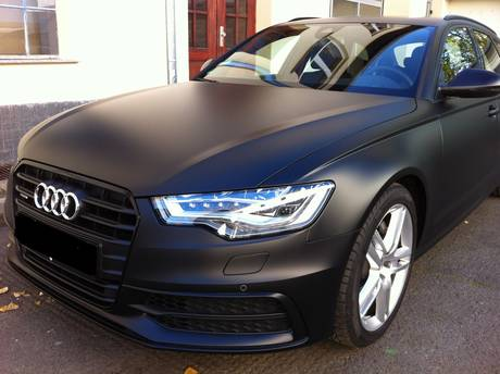 Audi A6 Foliert In Schwarz Matt Q4
